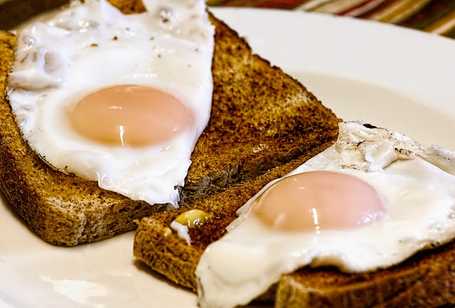 Toasted Wheat Bread With Egg